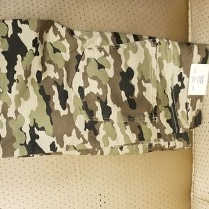 Camo high waist jeggings